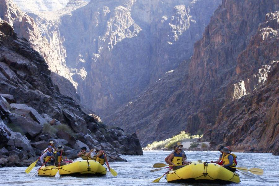 Prescott College Adventure Education Students Rafting